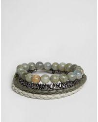 ALDO | Green Khaki Bracelets In 4 Pack for Men | Lyst