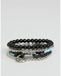 ALDO | Metallic Beaded Bracelets In 4 Pack for Men | Lyst