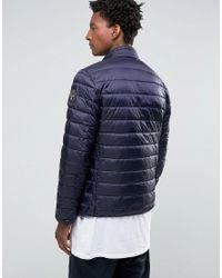 Napapijri   Blue Aerons Quilted Jacket Zip Front for Men   Lyst