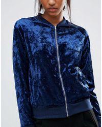 Madam Rage - Blue Madam Velvet Bomber Jacket - Lyst