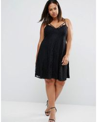 Boohoo | Black Cami Swing Dress | Lyst