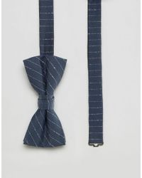 Jack & Jones | Blue Bow Tie With Stripe for Men | Lyst