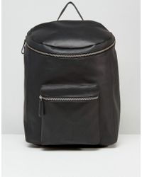 Sandqvist | Tobias Leather Backpack In Black for Men | Lyst