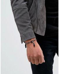 Icon Brand - Gray Skull Beaded Bracelet In Grey for Men - Lyst