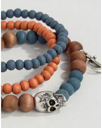 Icon Brand - Blue Double Beaded Bracelet Pack for Men - Lyst