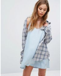 RVCA   White Relaxed Flannel Checked Shirt   Lyst