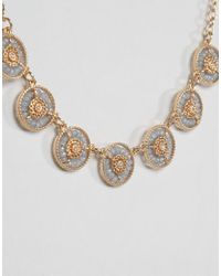 Nylon - Metallic Shimmer Encrusted Lariat Necklace - Lyst