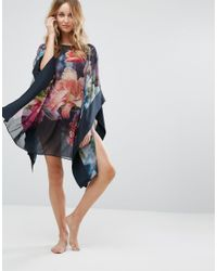Ted Baker - Blue Alexii Focus Bouquet Cover Up - Lyst
