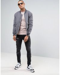 ASOS - Long Sleeve Extreme Muscle T-shirt With Boat Neck In Pink for Men - Lyst