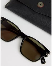 G-Star RAW | Vindal Square Sunglasses Black for Men | Lyst