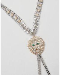 ASOS - Multicolor Premium Crystal Jewel Lion Body Harness - Lyst