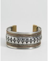 ASOS | Metallic Mixed Metal Etched Cuff Bracelets | Lyst