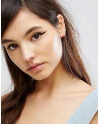 ASOS - Metallic Mini Strawberry Stud Earrings - Lyst