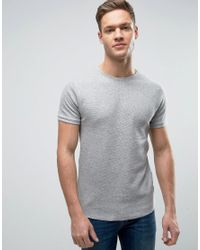 Bellfield | Gray Muscle Fit T-shirt In Waffle for Men | Lyst
