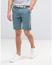 Bellfield | Blue Chino Shorts for Men | Lyst