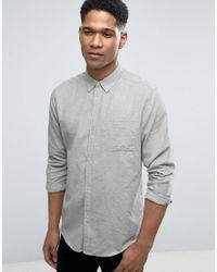 Bellfield | Gray Shirt With Button Down Collar for Men | Lyst