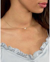Pieces - Metallic Filuna Necklace - Lyst