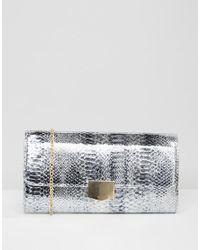 Yoki Fashion | Metallic Yoki Faux Croc Clutch Bag | Lyst