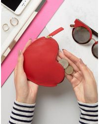 Lulu Guinness | Red Heart Coin Purse | Lyst