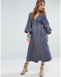 Free People | Blue Modern Kimono Dress | Lyst