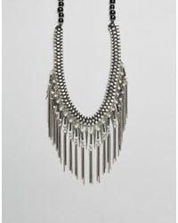 Raga   Metallic Fringe Statement Necklace   Lyst