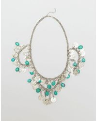 Raga | Metallic Coin Medallion Necklace With Fringe | Lyst