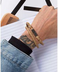 DIESEL - Brown Alucy Wrap Leather Bracelet In Tan for Men - Lyst