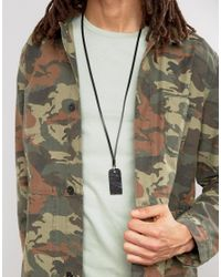 DIESEL - A-grater Dogtag Necklace In Black for Men - Lyst