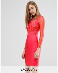 Wow Couture | Red Bandage Lace And Cage Dress | Lyst