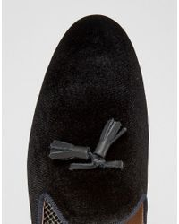 House Of Hounds - Black Backless Suede Loafers for Men - Lyst