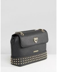 Love Moschino - Chain Strap Shoulder Bag - Black - Lyst