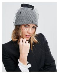 Helene Berman - Gray Veil Beanie Hat - Lyst