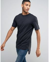 Jack & Jones | Black Core T-shirt With Seam Detail for Men | Lyst