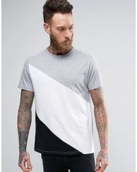 D-Struct | Gray Cut And Sew T-shirt for Men | Lyst