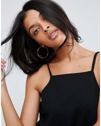 ASOS - Black Cami Top In Ponte With Square Neck - Lyst