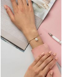 SELECTED - Metallic Femme Pearl Bracelet - Lyst