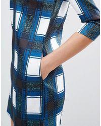 Glamorous - Blue Shift Dress - Lyst