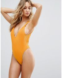 Minimale Animale - Yellow High Leg Swimsuit - Lyst