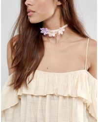 ASOS | Pink Spring Flower Choker Necklace | Lyst