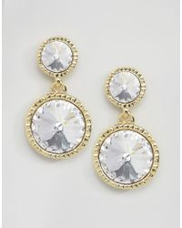 Ted Baker | Metallic Ronda Rivoli Crystal Drop Earrings | Lyst