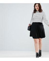 ff03d34ccfa024 ASOS Mini Skater Skirt With Pockets in Black - Lyst