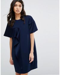 Whistles | Blue Cora Crepe Dress | Lyst