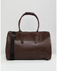 ASOS - Red Carryall In Burgundy Faux Leather for Men - Lyst