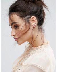 ASOS | Metallic Limited Edition Crystal Swirl Stud Ear Climber Pack | Lyst