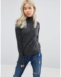 Blend She | Gray Nette Funnel Neck Sweater | Lyst