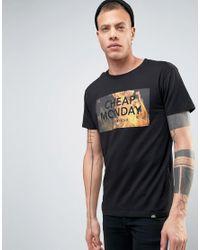 Cheap Monday   Black Standard T-shirt Flame Logo for Men   Lyst
