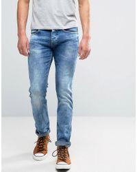 Wrangler | Spencer Straight Fit Jean Strike Blue Wash Ltd Ed for Men | Lyst