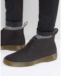 Dr. Martens | Black Mayport Canvas Chukka Boots for Men | Lyst
