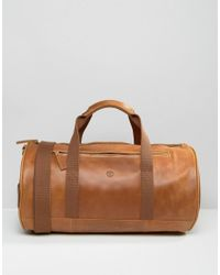 60cb288b2a Timberland Leather Duffle Bag Brown in Brown for Men - Lyst