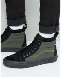8e6404e18b Vans Sk8-hi Mte Trainers In Black Va33txlqp in Black for Men - Lyst